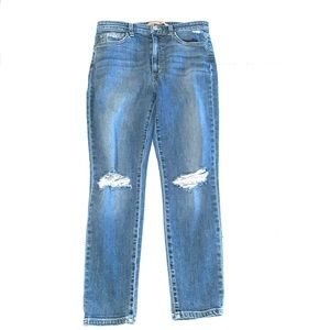 Joes Jeans Skinny High Rise Distressed Jeans